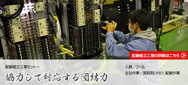 配線組立工場|配電盤・制御盤・分電盤・計装盤製品の製作・製造を設計、板金、配電組立、検査まで一貫生産のヤマカワ電機